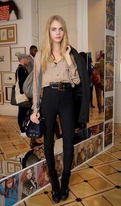 Cara - high waisted black pants