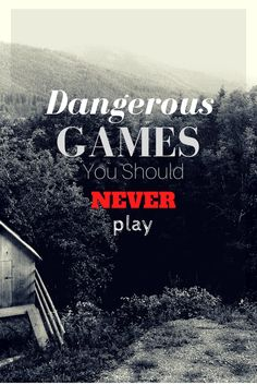 Getting into the Halloween spirit for October with dangerous games that should never be played!