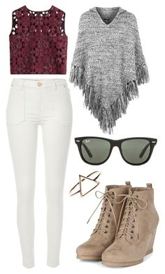 """""""Top #27"""" by deedee-pekarik ❤ liked on Polyvore featuring moda, River Island, Alberta Ferretti, Topshop, Ray-Ban, topsets y topset"""