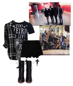 """""""Untitled R5 set"""" by wont-stop-loving-queen-rydel ❤ liked on Polyvore featuring Chicnova Fashion, Topshop, Gianvito Rossi, women's clothing, women, female, woman, misses and juniors"""