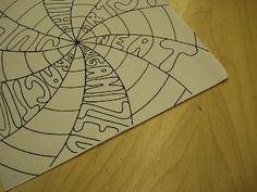 a faithful attempt: Personality Swirls Classroom Art Projects, School Art Projects, Art Classroom, High School Art, Middle School Art, 8th Grade Art, High Art, Jr High, Art Lesson Plans