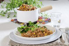 Mexikansk gryte med ris Fried Rice, Fries, Ethnic Recipes, Food, Meals, Yemek, Baked Rice, French Fries, Stir Fry Rice