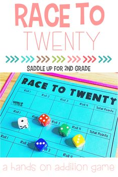 Need a simple elementary math game? Click the pin to learn how to create, set up, and implement this engaging game for your learners! #mathgames #mathactivities