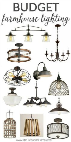 WOW!! These Budget Farmhouse Lighting finds are all under $150!! turquoise home #overheadkitchenlighting