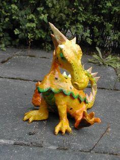 papier mache dragon box - WetCanvas