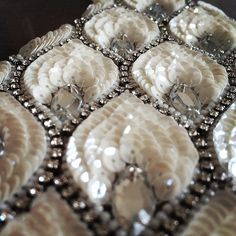 bridal jewelry for the radiant bride Hand Embroidery Dress, Tambour Embroidery, Couture Embroidery, Embroidery Fashion, Silk Ribbon Embroidery, Embroidery Designs, Bordados Tambour, Couture Beading, Tambour Beading