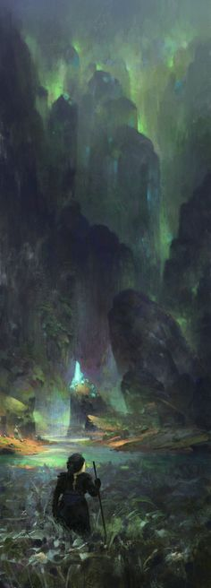 Magic Cave, Max Bedulenko on ArtStation at https://www.artstation.com/artwork/magic-cave-183bb71a-4936-4cea-99b0-b5bd79c741e7