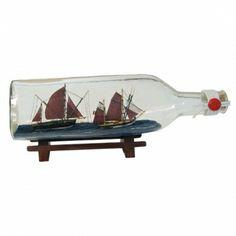 Maritmes Flaschenschiff mit 2 Thunfischfängern für den Sammler und als schöne Geschenkidee  KEINE VERSANDKOSTEN INNERHALB DEUTSCHLANDS!!