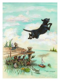 Day at the Lake Giclee Print by Gary Patterson at AllPosters.com