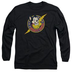 MIGHTY MOUSE/MIGHTY HERO - L/S ADULT 18/1 - BLACK -