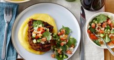This Chilean poble salsa with a bite goes perfectly with creamy polenta and a smoky steak.