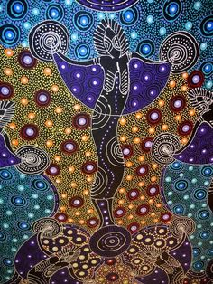 Aboriginal Art Dreamtime <b>dreamtime</b> sisters by colleen wallace nungari depicts the ...
