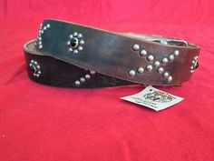 handmade studded jeweled leather belts and wallets etc