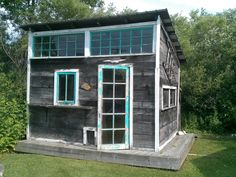 Garden House made from salvage by Bob Thomas,  at his store, Monumental Finds, in Frankfort, Michigan. Photo by Xtian Cousineau.