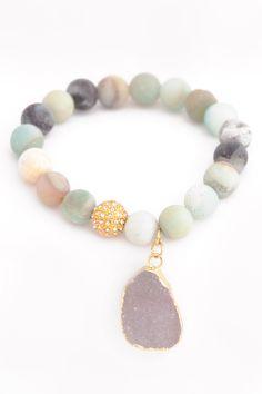 Matte Amazonite Luxury Bracelet