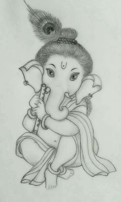 Ganesha Art Stock Photos And Images Abiding Suggestions Ganesh Art Images Ganesha Sketch, Ganesha Drawing, Lord Ganesha Paintings, Ganesha Art, Ganpati Drawing, Girl Drawing Sketches, Art Drawings Sketches Simple, Cute Drawings, Pencil Sketch Drawing