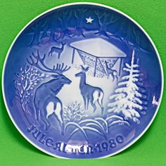 1980 B&G (Denmark) Christmas Collector Plate, Christmas In The Woods