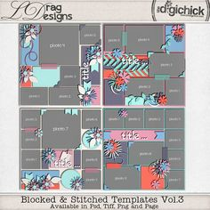 Blocked & Stitched Templates Vol. 3 by LDrag Designs