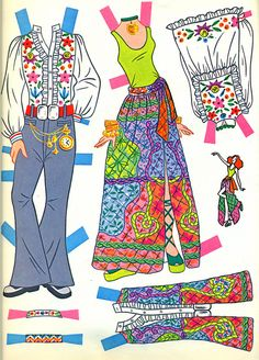 Mod •~• Whitman paper doll book, 1973