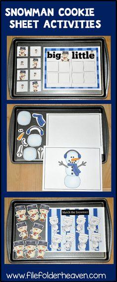 Hands-On Snowman Activities: Sorting, Matching, Building! Preschool Class, Preschool Christmas, Preschool Activities, Preschool Winter, Kindergarten, Small Group Activities, Holiday Activities, Winter Fun, Winter Theme
