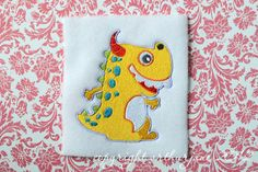 Yellow Monster INSTANT DIGITAL DOWNLOAD Embroidery by ARTHURjane, $3.99