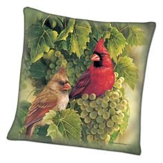 Songbird Portrait Pillows - The Danbury Mint