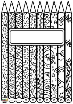 These free book covers for your kid's return to school are fantastic! These free book covers for your kid's return to school are fantastic!,dessin noir et blanc Free book covers for back to school. School Coloring Pages, Coloring Book Pages, Coloring Sheets, School Book Covers, School Binder Covers, Cover Pages, Cover Art, Coloring For Kids, Printable Coloring