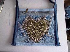upcycled denim bag...ohhhhh, I liiiiike this one verrrrrry much...