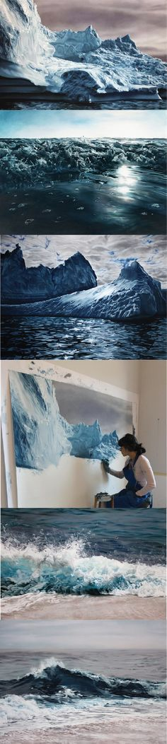 Finger painting at its best Oooh! - Zaria Forman. This is unbelievable. Ability like this makes me excited.