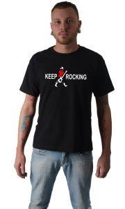 Camiseta Keep Rocking, essa e outras camisetas  você encontra aqui http://glurl.co/m5 Faça seu cadastro e participe de nossas promoções e novidades. Camisetas de rock, memes, engraçadas, inteligentes.
