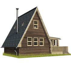 Are A-frame Cabin Kits Worth it? Building Costs, Building A Tiny House, A Frame House Plans, Cottage Plan, Cottage Chic, Cottage Living, Living Room, Country Style Homes, Rustic Design