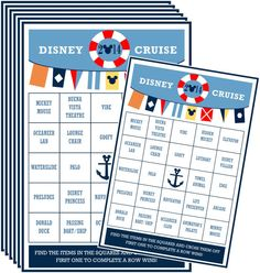 INSTANT DOWNLOAD PRINTABLE Cruise Bingo by TiffanyandGirls on Etsy, $1.50