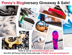 Win sex toy art in Penny's 4 Year Blogiversary Giveaway & Sale!
