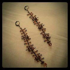"""Pretty long earrings Long lovely earrings.  Measures 5"""". Jewelry Earrings"""