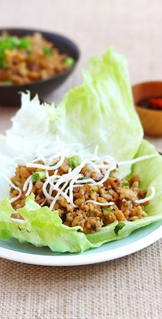 Lettuce Wraps - PF Chang's copycat recipe, so easy, healthy & much cheaper than eating out, 20 mins to make | rasamalaysia.com