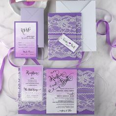 Plum #weddinginvites, rsvp #receptioncard #rsvp #pleaseresponse #ombre #watercolor from @4LOVEPolkaDots  #lace #wedding #weddingphotography #marriage #mrs #together #bestdayever #weddingdecor #purple #lillac #sosoft #lifestyle #fashion #blog #sweet #craft #handmade #wedding #stationery For purple and lace follow them on IG https://www.instagram.com/p/9xneR6jSPd/?taken-by=4lovepolkadots