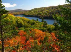Lake of the Clouds in the fall. Incredible. #PorcupineMountains