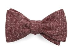 THREADED ZIG-ZAG BOW TIES - RASPBERRY | Ties, Bow Ties, and Pocket Squares | The…