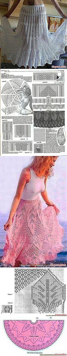 Ажурные юбки, спицами.: Дневник пользователя значит это я - Страна Мам