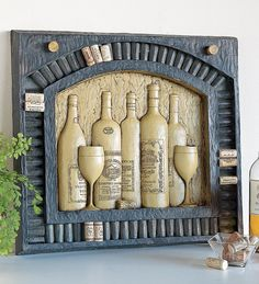 4 The......BAR.........  Tuscan Wine Cork Display Plaque   HOW 2 DIY....  got idea but let me work it out.....