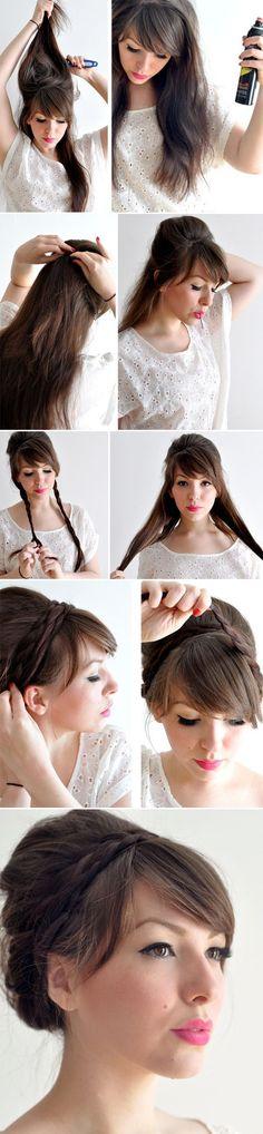 Peinados recogidos con trenzas facil y bonito para verano #recogidos http://www.recogidos.org/peinados-recogidos-con-trenzas-facil-y-bonito-para-verano/ #peinadosrecogidos