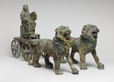 Statuette of Cybele on a cart drawn by lions [Roman] (97.22.24) | Heilbrunn Timeline of Art History | The Metropolitan Museum of Art