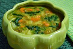 Sopa de Lentilha com Legumes - Veganana