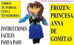 COMO HACER A LA PRINCESA ANNA DE FROZEN DE GOMITAS (LIGAS) CHARMS CON DO...