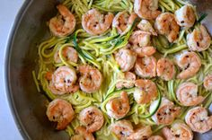 Just a Taste | Skinny Shrimp Scampi with Zucchini Noodles | http://www.justataste.com