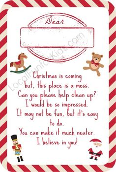 A cute christmas elf warning letter andor a personalized letter now this is a good idea lol elf on the shelf is asking the children to help clean the house free elf on the shelf printable poems home easy spiritdancerdesigns Image collections