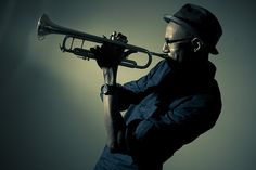 Posing with trumpet  ...boplicity... by trombontim, via Flickr
