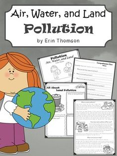 Pollution Activities ~ Air, Water, and Land Ocean Pollution, Environmental Pollution, Science Word Search, Descriptive Writing Activities, Book Summaries, Holiday Activities, Worksheets For Kids, Earth Day, Guided Reading
