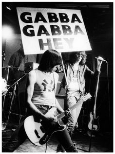 The Ramones playing CBGB, 1976. Photo by Godlis.