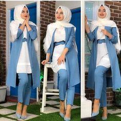 Casual hijab wear spring 2019 – Just Trendy Girls Hijab Style Dress, Modest Fashion Hijab, Modern Hijab Fashion, Muslim Women Fashion, Islamic Fashion, Hijab Fashion Inspiration, Fashion Outfits, Hijab Wear, Stylish Hijab